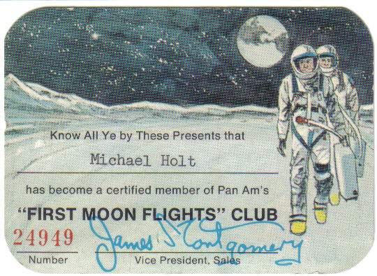 pan-am ay uçuşu rezervasyon kartı